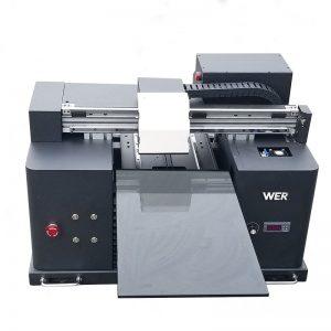 2017 barato tamanho A4 desktop tablet uv led flatbed impressora digital WER-E1080UV