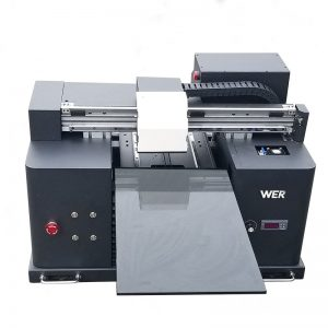 Máquina da impressora dos t-shirt 3d para imprimir o negócio móvel WER-E1080UV da pele