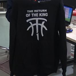 Amostra de impressão de camisola preta por A2 impressora de t-shirt WER-D4880T