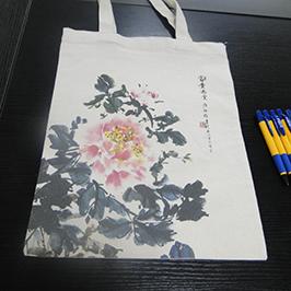 Amostra de impressão saco de lona por A2 t-shirt impressora WER-D4880T