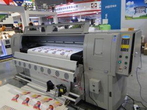 Máquina de impressão de couro
