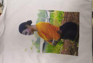 Amostra de impressão de camisetas para o cliente Burma da impressora WER-EP6090T