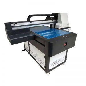 impressora UV do leito do verniz WER-ED6090 para a telha cerâmica / caixa do telefone 6 cores